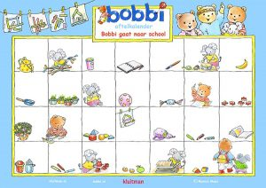 Aftelkalender Bobbi gaat naar school