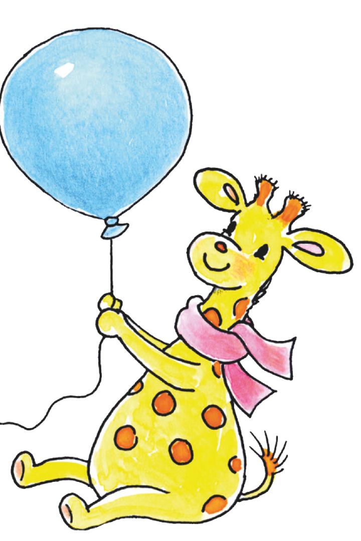 Bobbi geeft feestje giraf