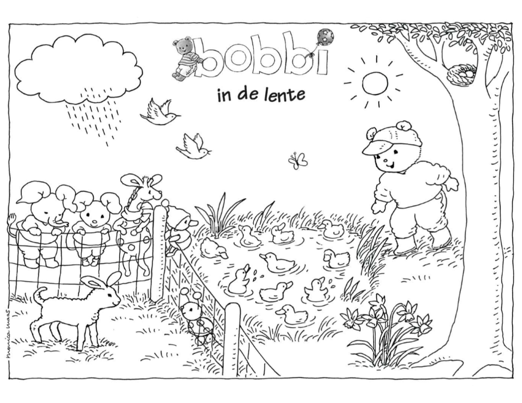 Bobbi Kleurplaat Sommer Urlaub Malvorlagen Malvorlagen1001