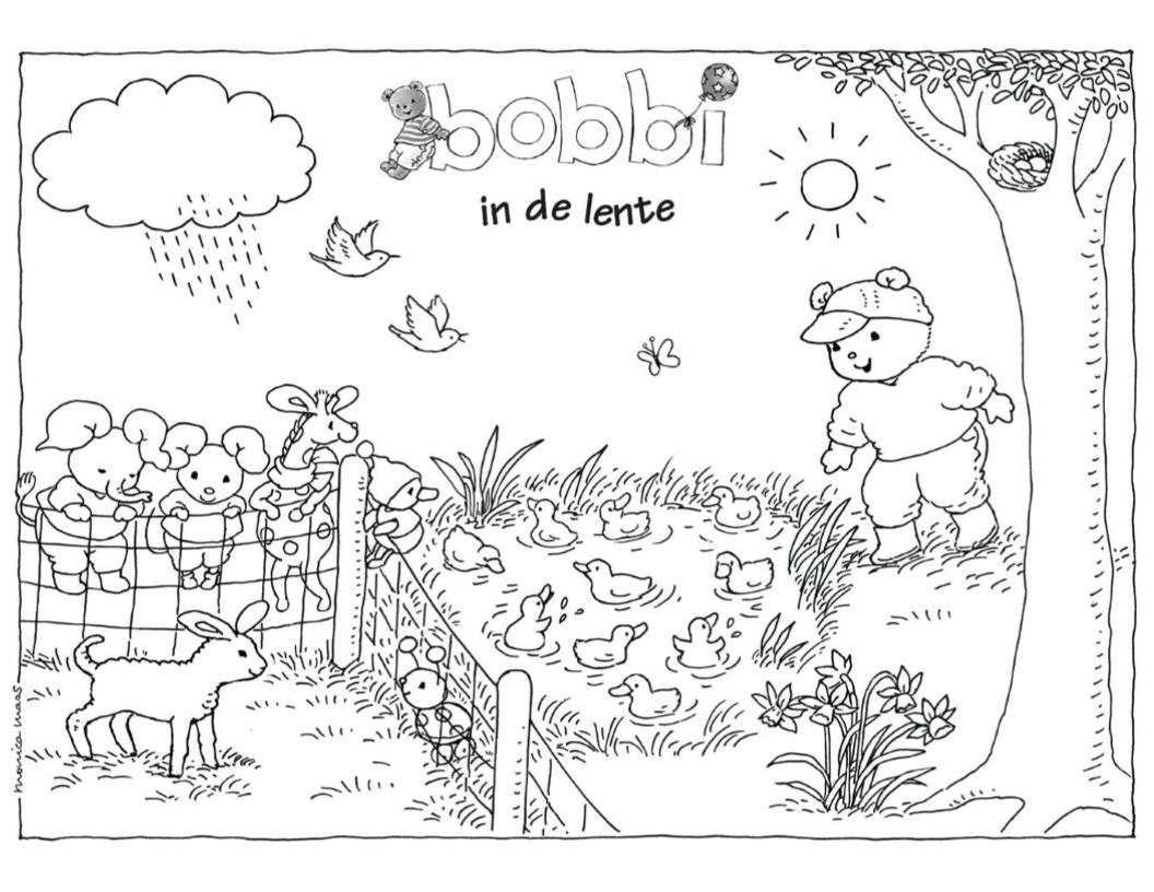 Bobbi In De Lente Kleurplaat Bobbi