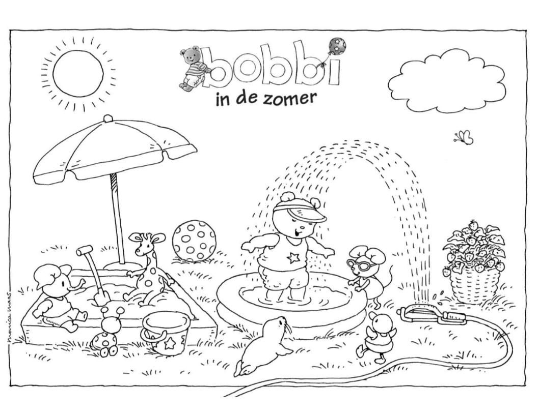 Bobbi In De Zomer Kleurplaat Bobbi