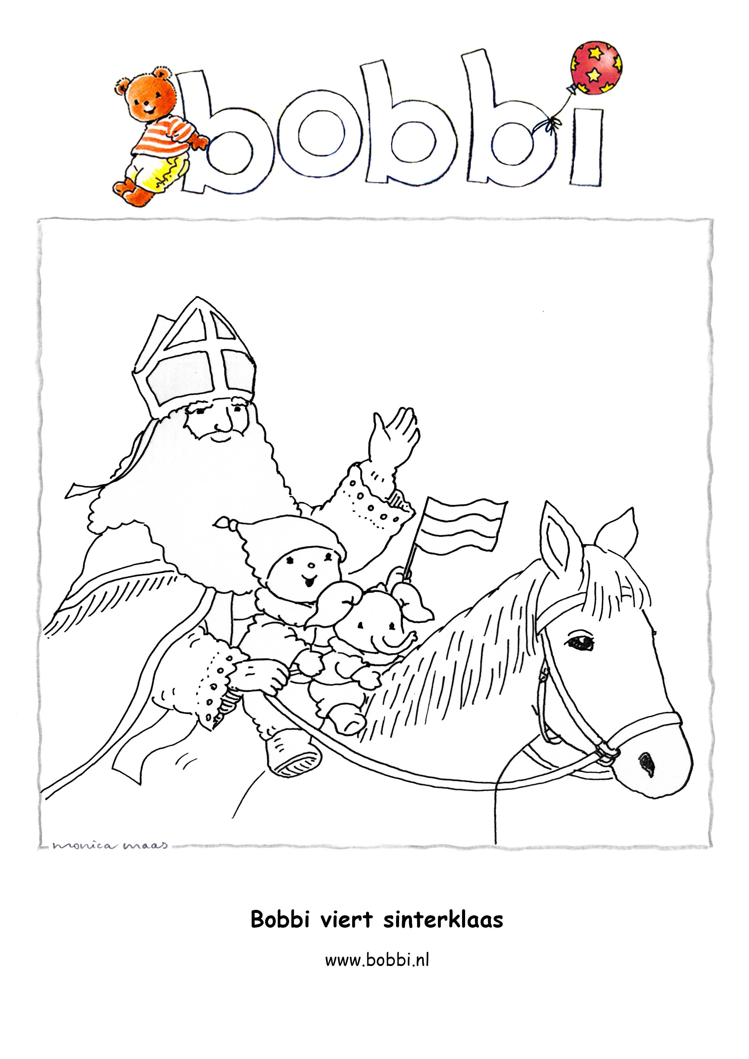 Kleurplaten Sinterklaas Op Zijn Paard.Kleurplaten Bobbi